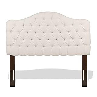 Leggett & Platt Martinique Button-Tuft Upholstered Headboard with Adjustable Height, Ivory Finish, Full / Queen (B006K0WBNS) | Amazon Products