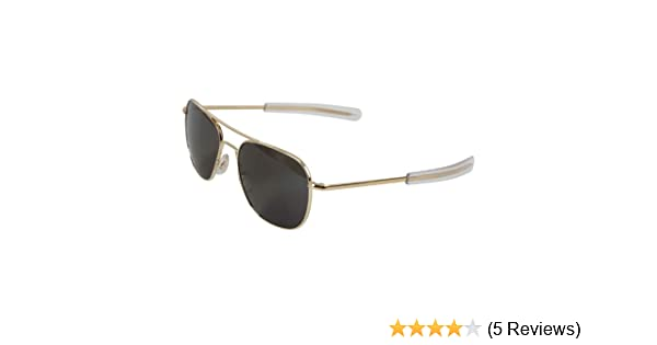 Amazon.com  American Optics Gold GI 52mm Air Force Pilots Sunglasses  Shoes 19eaf542b1d