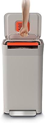 Joseph Joseph Titan 30 Trash Compactor Cocina Papelera, Acero, Piedra, 39 x 34,4 x 68,4 cm: Amazon.es: Hogar