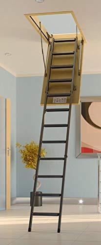 Echelle escamotable m/étallique Hauteur maximale sous plafond 2.80m