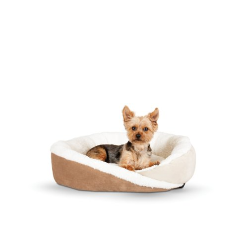 K&H Manufacturing Huggy Nest Small Tan/Caramel 22-Inch by 19-Inch by 6-Inch
