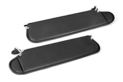Rugged Ridge 13313.09 Black Sun Visor Kit for 1997-2002 Jeep Wrangler TJ
