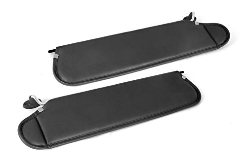 Rugged Ridge 13313.09 Black Sun Visor Kit for 1997-2002 Jeep Wrangler (Sun Visor Kit)