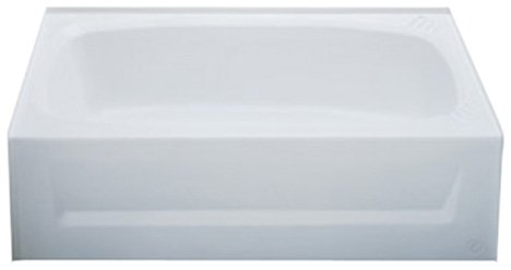 Kinro Composites W2754A RH-SPK White ABS Bath Tub with Apron by Kinro Composites
