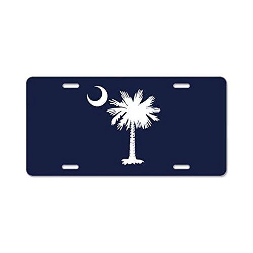 CafePress - SC Palmetto Crescent (2).png Aluminum License Plat - Aluminum License Plate, Front License Plate, Vanity Tag]()