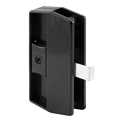Prime-Line Products A 180 Sliding Screen Door Latch and Pull, Snap-In, Black, Academy