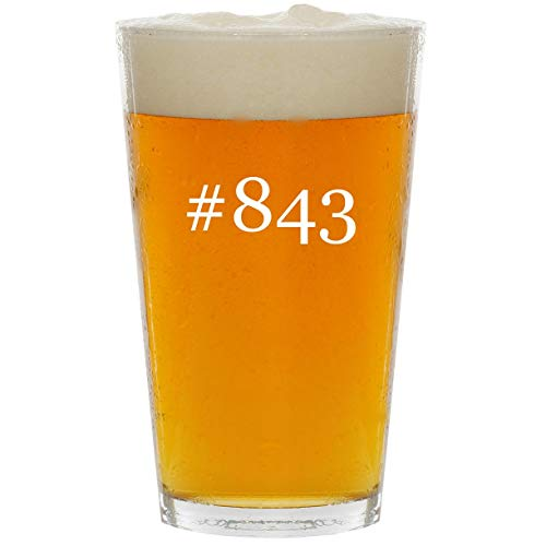 #843 - Glass Hashtag 16oz Beer Pint