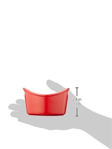 Rachael Ray Stoneware 4-Piece Bubble & Brown Ramekin Set, Red by Rachael Ray (Image #4)