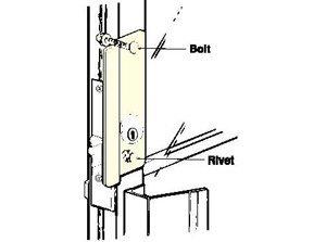 Don-Jo GLP-307 Latch Protector For Aluminum Entrance Doors