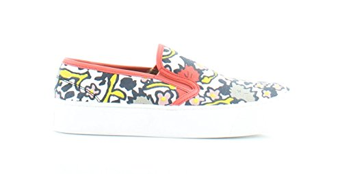 Canvas Multi Frauen Floral Coach pour US Femme Chalk Coral Baskets PPTzUqa