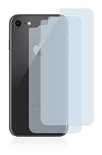 2x BROTECT Pellicola Protettiva Apple iPhone 8 (Posteriore) Schermo Protezione – Trasparente, Anti-Impronte