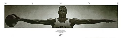 MICHAEL JORDAN POSTER Famous Wings Print 72 x 24 - 6ft x 2ft RARE HOT - Brands In Jordan
