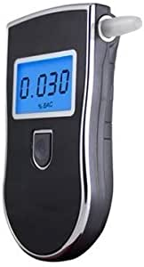 High Accuracy Breath Analyzer Portable Breathalyzer Digital Breath Alcohol Tester Personal & Professional Use with 5 Mouthpieces Bac Tester (Black)