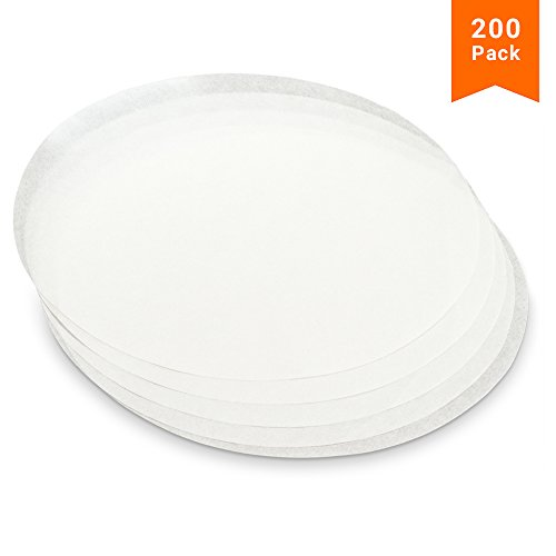 - KooK Round Parchment Paper in Resealable Packaging, White (200, 9 inch)