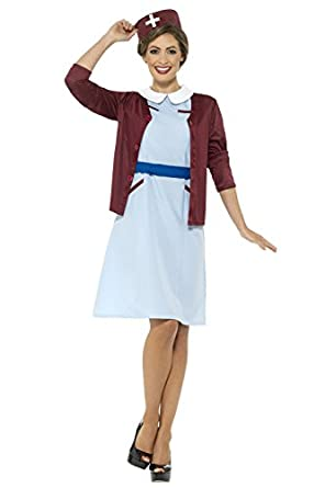 60s Costumes: Hippie, Go Go Dancer, Flower Child Smiffys Womens Vintage Nurse Costume 60s $41.99 AT vintagedancer.com