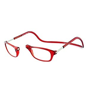 Adjustable Reading Glasses Front Connect Easy CLIC Fitted For Prescription Lenses (2.00 Strength, Red / Rojo) by Magnet Clic
