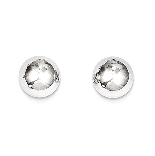 ICE CARATS 14k White Gold 8mm Ball Post Stud Earrings Fine Jewelry Gift Set For Women Heart by ICE CARATS