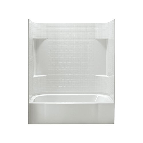 STERLING 71140112-0 Accord Bath and Shower Kit, 60-Inch x 30-Inch x 74.25-Inch, Left-Hand, White
