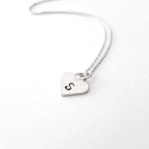 - Personalized Sterling Silver Heart Letter