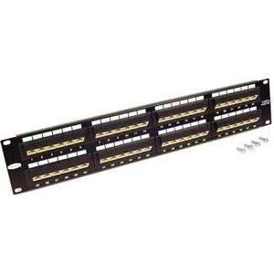 BELKIN F4P338-48-AB5 48-Port 568A/568B Cat5 Patch Panel with Cable Rings