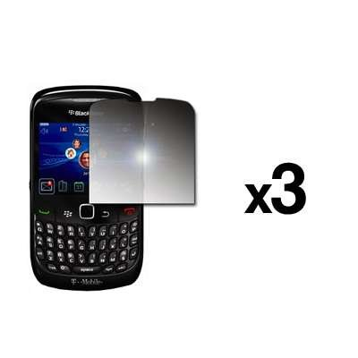3 Pack of Premium Mirror Screen Protectors for Blackberry Curve 8530 [Accessory Export Packaging] - Blackberry Curve Screen