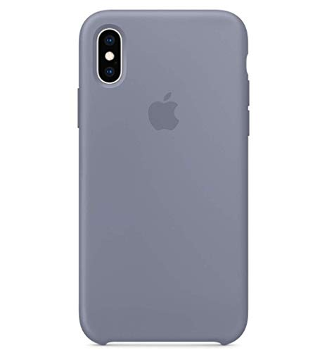 MikeCase Compatible for iPhone Xs Case, iPhone X Case, BigMike Liquid Silicone Gel Rubber Shockproof Case Soft Microfiber Cloth Lining Cushion Compatible with iPhone X/Xs (Lavender Grey)