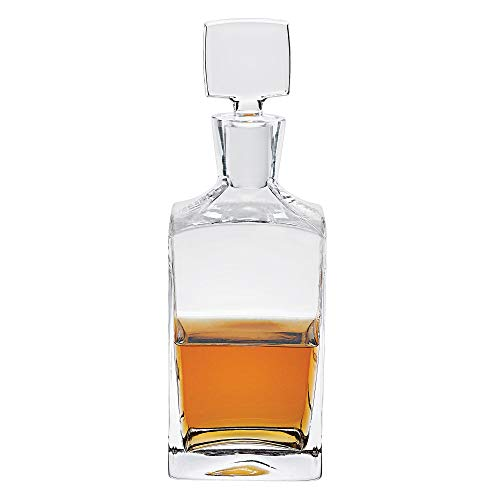 Badash Lead Crystal Decanter - Badash - Enzo Square European Mouth Blown Lead Free Crystal Decanter H10.25
