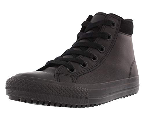 Converse Kid's Chuck Taylor All Star Boot Hi PC Fashion Sneaker Shoe, Black/Thunder/Black, 13