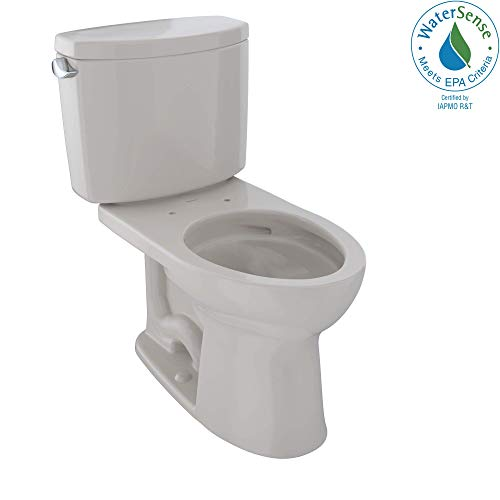 TOTO CST454CEFG#12 Drake II Two-Piece Elongated 1.28 GPF Universal Height Toilet with CEFIONTECT, Sedona Beige