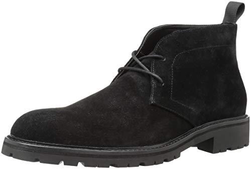 (Calvin Klein Men's ULTAN Calf Suede Chukka Boot, Black, 10.5M M US)