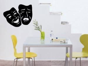 Comedy Tragedy Theater Mask Art Wall Decal Sticker]()
