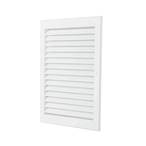 Air Jade Aluminum Return Air Grille-Sidewall/Ceiling-Easy Air Flow White Air Grille for HVAC (12''w X 12''h) ()