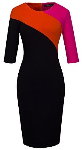 orange and black bridesmaid dresses - 2
