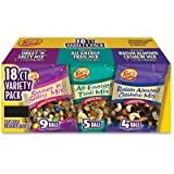 Kar's 18 ct Variety Pack 3.5 oz Sweet N Salty Mix 3.0 oz All Energy Trail Mix 2.75 oz Raisin Almond Cashew Mix