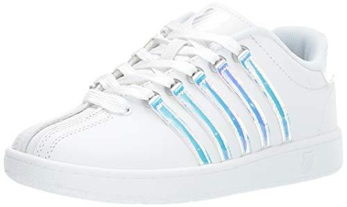 Children White K-swiss Shoe Kids - K-Swiss Unisex Classic VN Sneaker, White/ice, 4 M US Big Kid