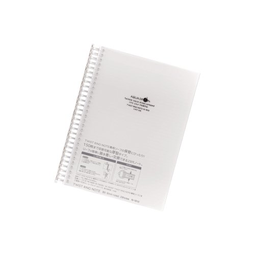 LIHIT LAB. Refillable Notebook, 150 Pages, 9.9 x 7.8 inches, Clear (N-1610-1)