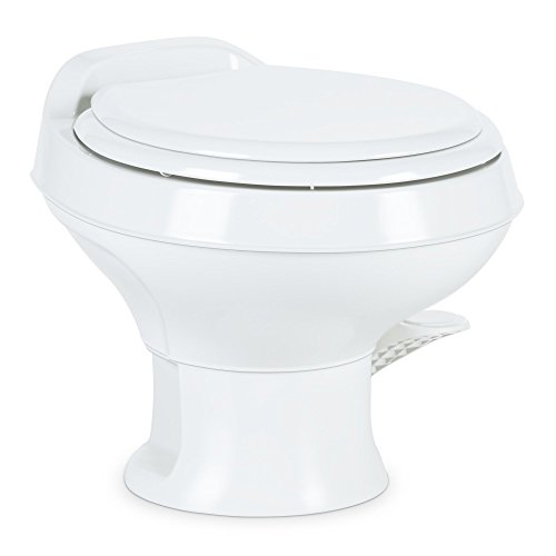 Dometic 300 Series Low Profile Toilet, White