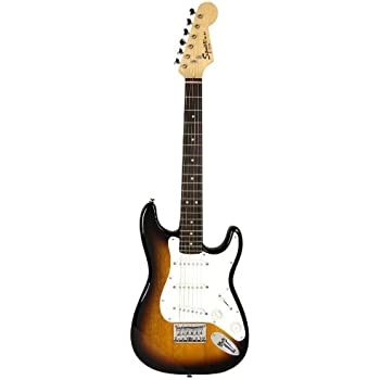 squier by fender limited edition mini strat electric guitar sunburst musical. Black Bedroom Furniture Sets. Home Design Ideas