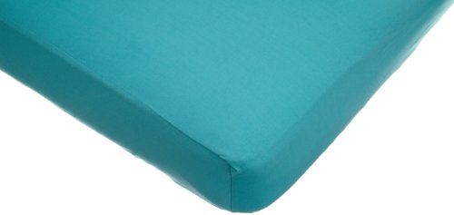 American Baby Company Supreme 100% Natural Cotton Jersey Knit Fitted Crib Sheet for Standard Crib and Toddler Mattresses, Turquoise, Soft Breathable, for Boys and Girls ()