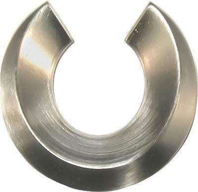 Mid-Century Brushed Nickel Horseshoe Drawer Pull Handle Centers: 1-1/2