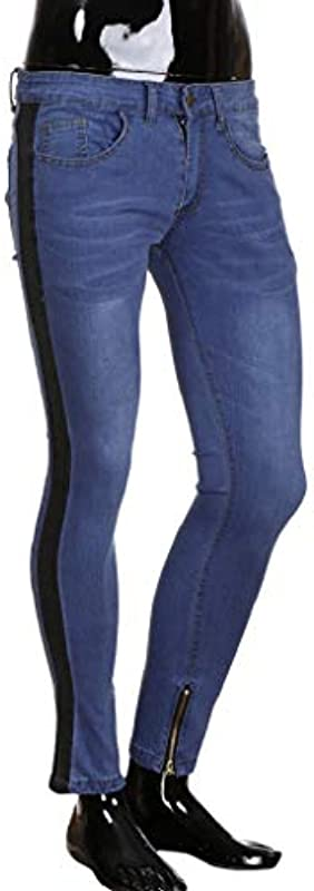 LuckYCAT męskie spodnie dżinsowe typu Destroyed, slim fit, niebieskie, szare, długie spodnie dżinsowe dla mężczyzn, modne spodnie chłopięce, rozciągliwe, na czas wolny, na lato, zi