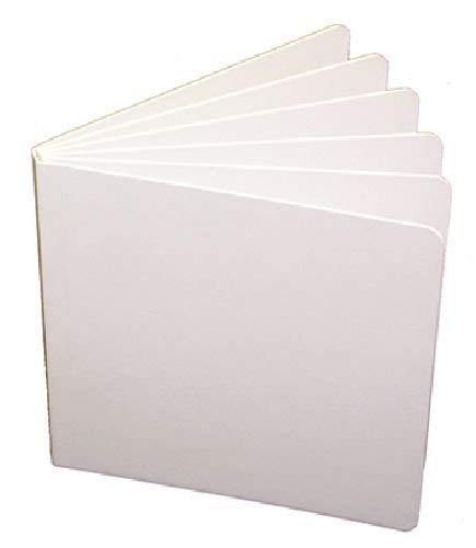 White Hardcover Blank Book 5 X 5 -- Case of 12