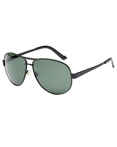 Aviador para Moda Hombre MissFox Sol única Talla oscuro Piloto Gafas Sunglasses Lente y verde Negro UV400 Mujer de qIX88xtUw