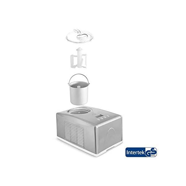 Gelatiera EMMA con Compressore Autorefrigerante 150W, 1.5L, Macchina per Gelato e Sorbetti in Acciaio inox con… 3 spesavip
