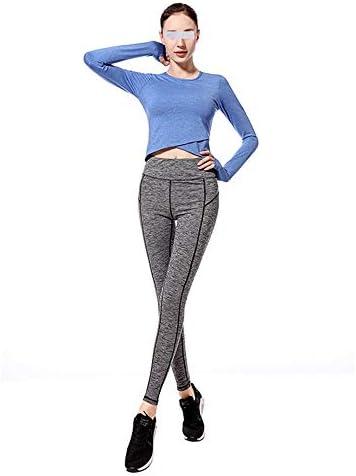 レディースジャージ上下セット 女性Tシャツトップスジムヨガトレーニングミッドウエストランニングパンツ2ピーストラックスーツ (色 : 青, サイズ : XL)