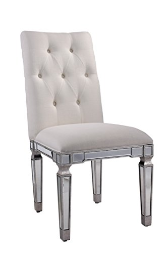 Elegant Lighting Florentine Ivory Chair with Silver Finish a