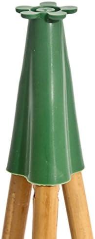 Bulk Hardware bh05559 Wigwam Jardín Caña de bambú mango de soporte para 3 cañas, juego de 20 piezas: Amazon.es: Bricolaje y herramientas