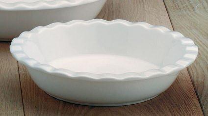 WM Bartleet and Sons Ceramic Ruffled Pie Dish 8
