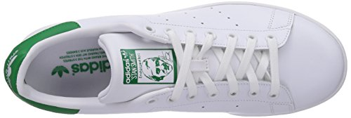 adidas Stan Smith, Zapatillas B24706-Hombre Unisex Blanco / Verde (Running White/Running White/Fairway)