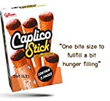 5x Glico Caplico Biscuit Cone Chocolate Free Shipping Made From Thailand